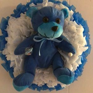 Baby,  blue wreath new